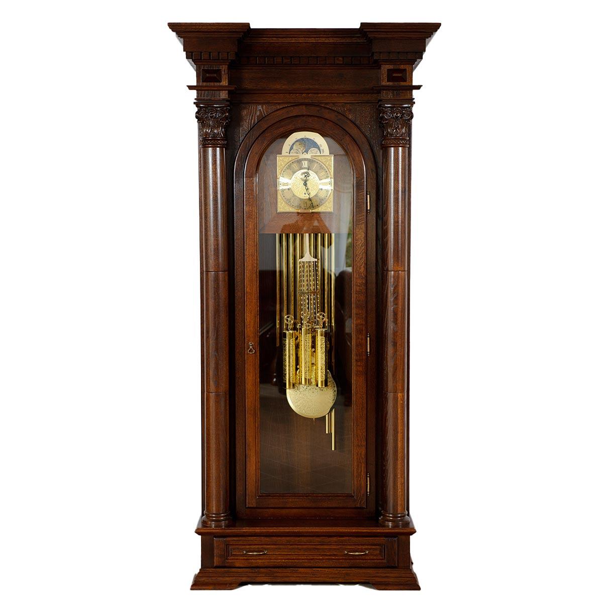 Dubové, masivní stojací hodiny Lux