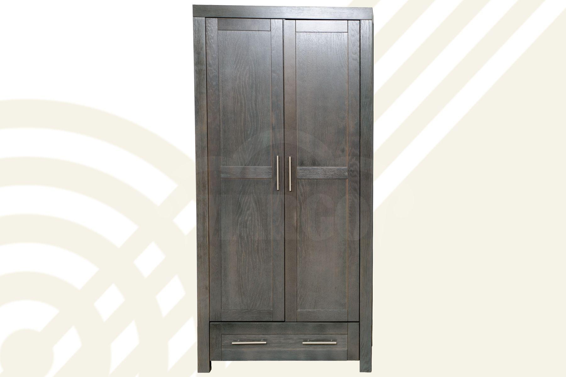 Dubová šatní skříň II D Tor
