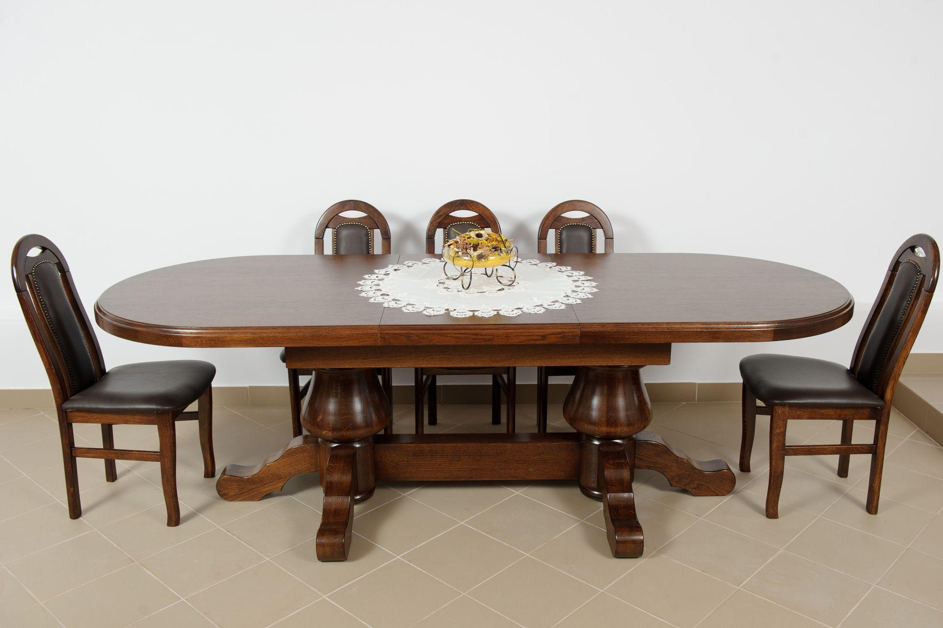 Dubový stůl Gryzli ovál