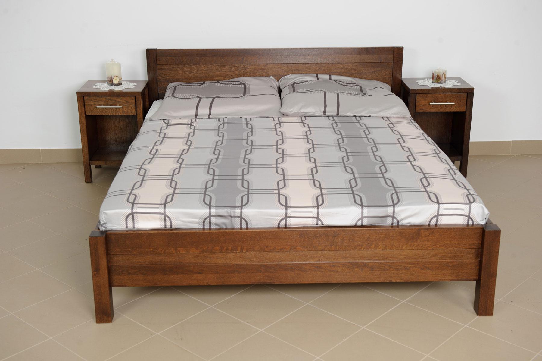 Dubová postel Lun