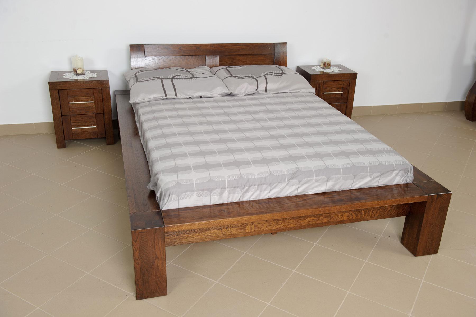 Dubová postel Nigr
