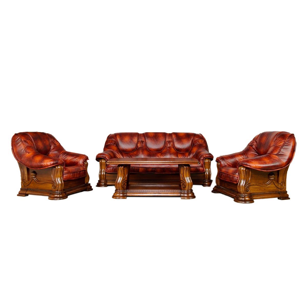 Kožená sedací souprava Lux