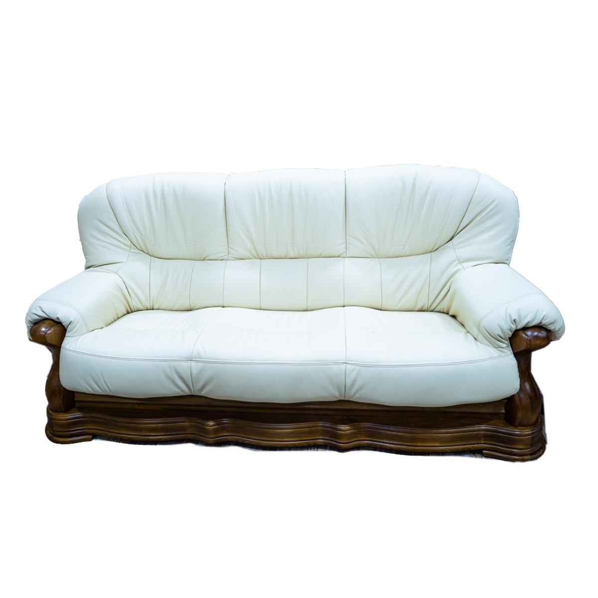 Luxusní kožený trojsedák Václav - zelený