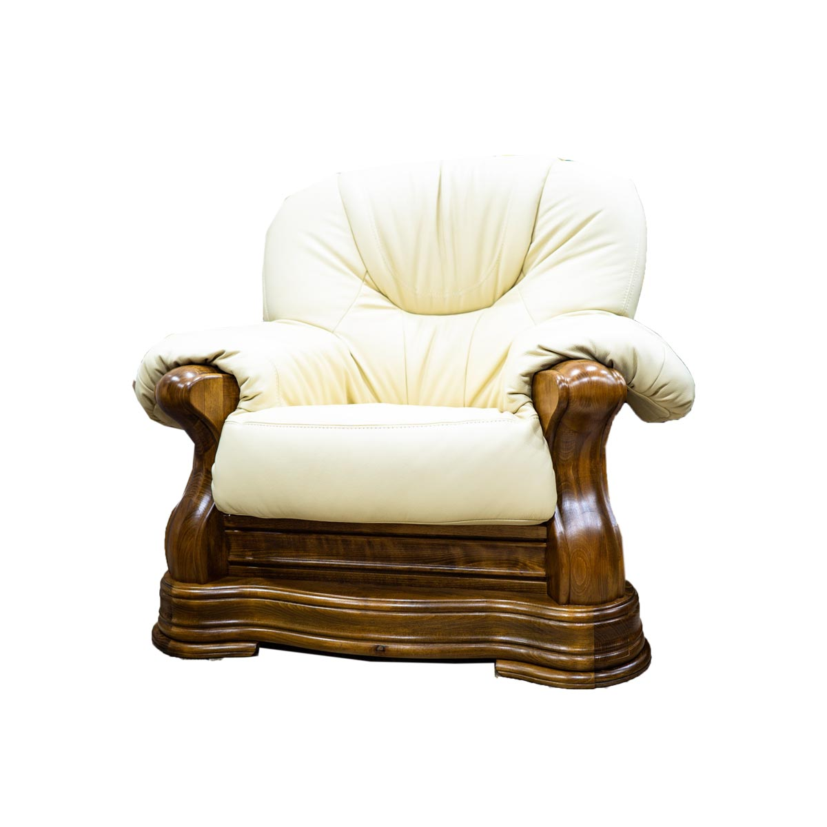 Luxusní kožený trojsedák Václav - bílý