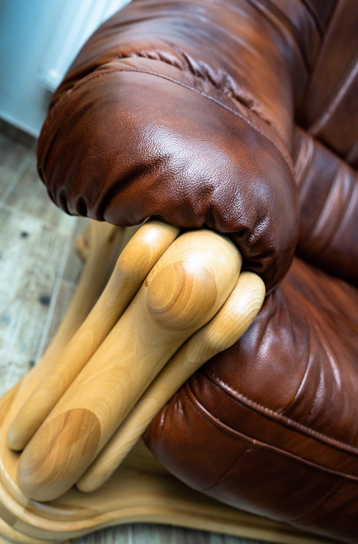 Kožená sedací souprava Felicie - hnědá - na prodejně