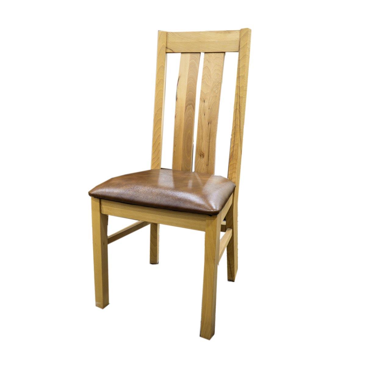 Masivní židle E-33