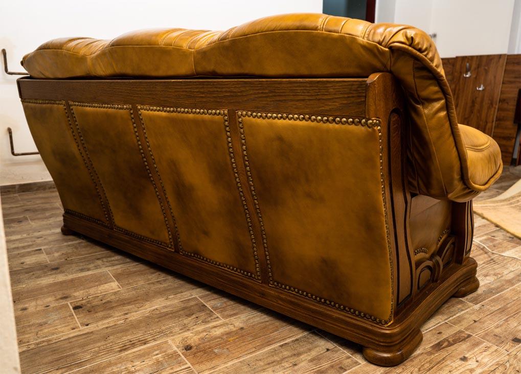 Masivní kožený trojsedák Lukáš - výprodej